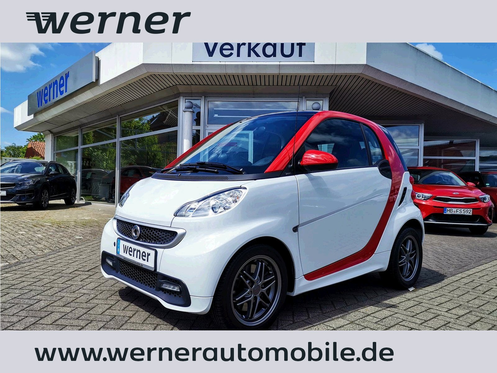 SMART fortwo coupe mhd passion Panorama-Glasdach