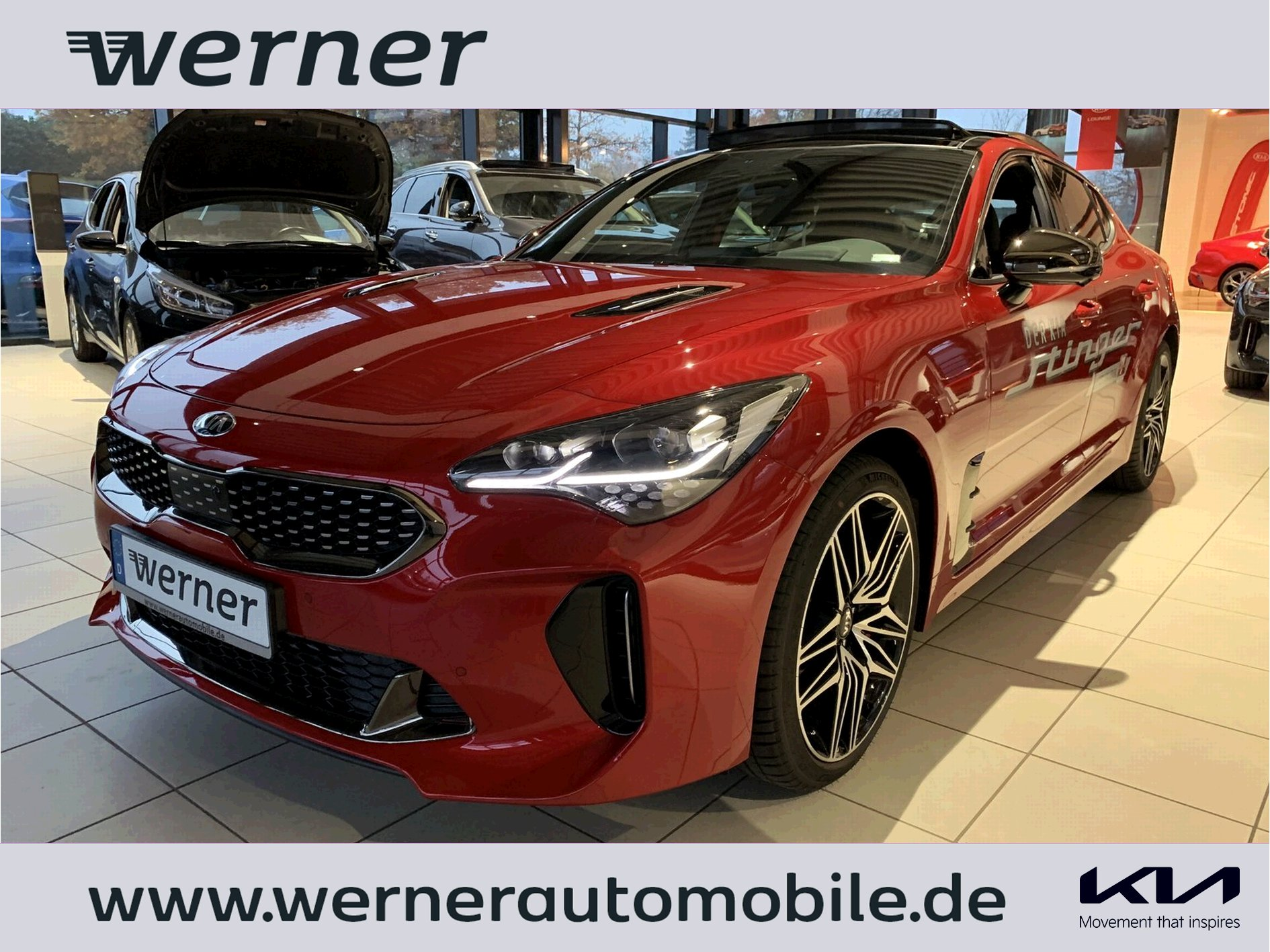 KIA Stinger CK 3.3 T-GDI GT AWD AT Leder Glasdach